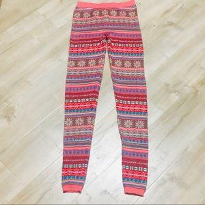 Pink Teal Aztec Leggings!